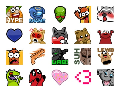 Twitch Emotes by Christine Wilde on Dribbble