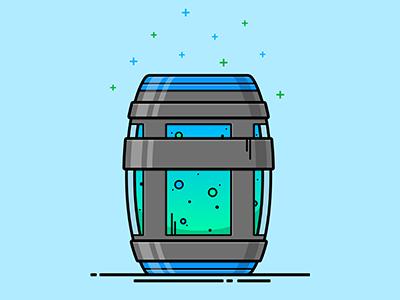 fortnite chug jug consumable illustration illustrator illustration drink barrel bottle vector consumable jug chug fortnite - fortnite chug jug water bottle