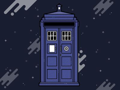 Dr Who's Tardis Illustration