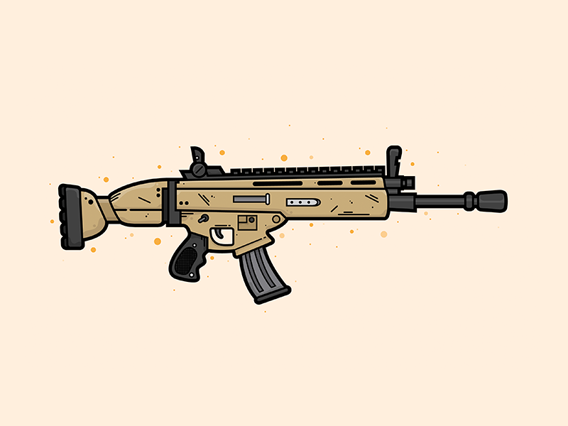 Scar Assault Rifle Illustration By Christine Wilde On Dribbble
