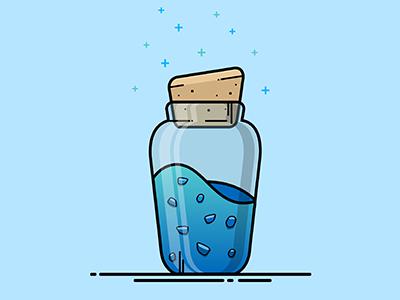 Fortnite Mini Shield Illustration lineart vector illustration royale battle bottle drink shield fortnite