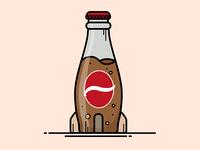 Fallout Nuka Cola Bottle Illustration