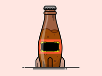 Fallout Nuka Cola Wild Bottle Illustration
