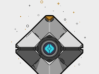 Little Light Ghost Shell Illustration