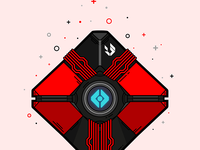 Destiny Amalgam Ghost Vector Illustration