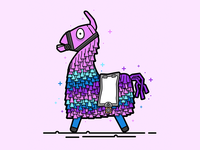 Fortnite Loot Llama Vector Illustration