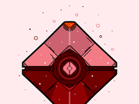 Destiny Crimson Ghost Shell Vector Illustration