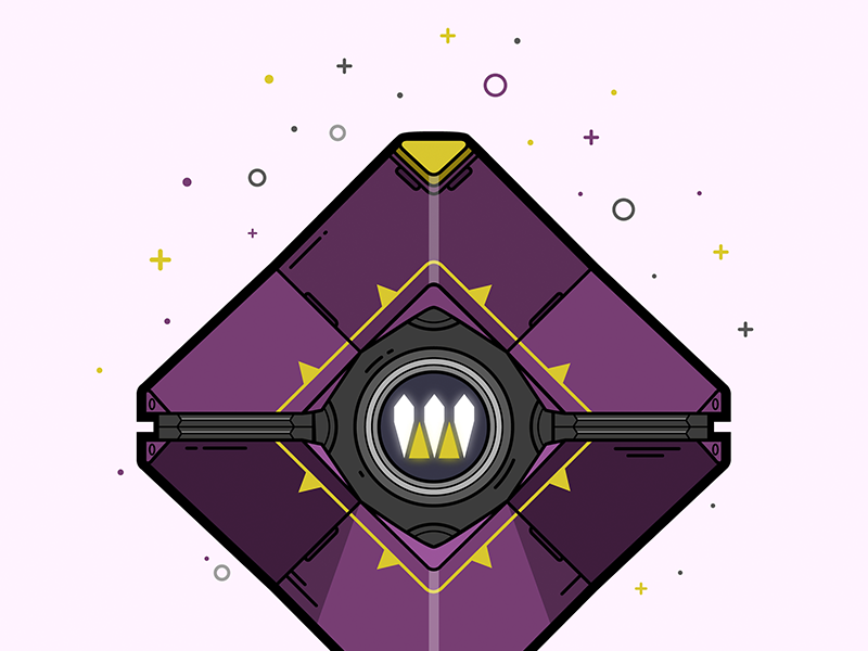 Destiny Queen's Ghost Shell Illustration lineart illustrator illustration shell ghost queens destiny
