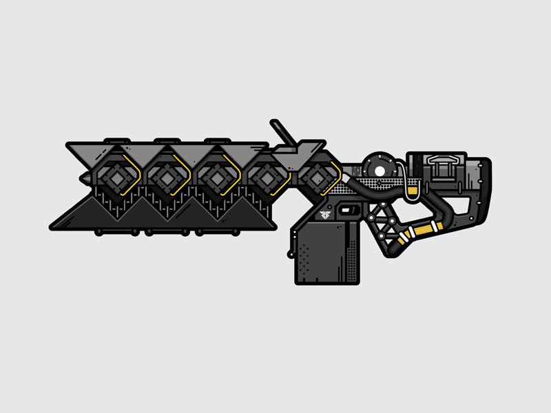 Sleeper Simulant weapon lineart illustration vector video game destiny sleeper simulant