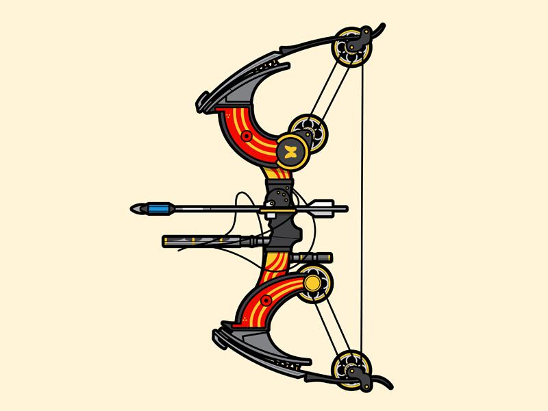 Le Monarque flat vector lineart illustration weapon vector gaming destiny destiny 2 le monarque