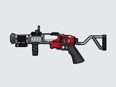 The Mountaintop adobe illustrator flat vector lineart vector illustration weapon grenade launcher mountaintop destiny 2 destiny