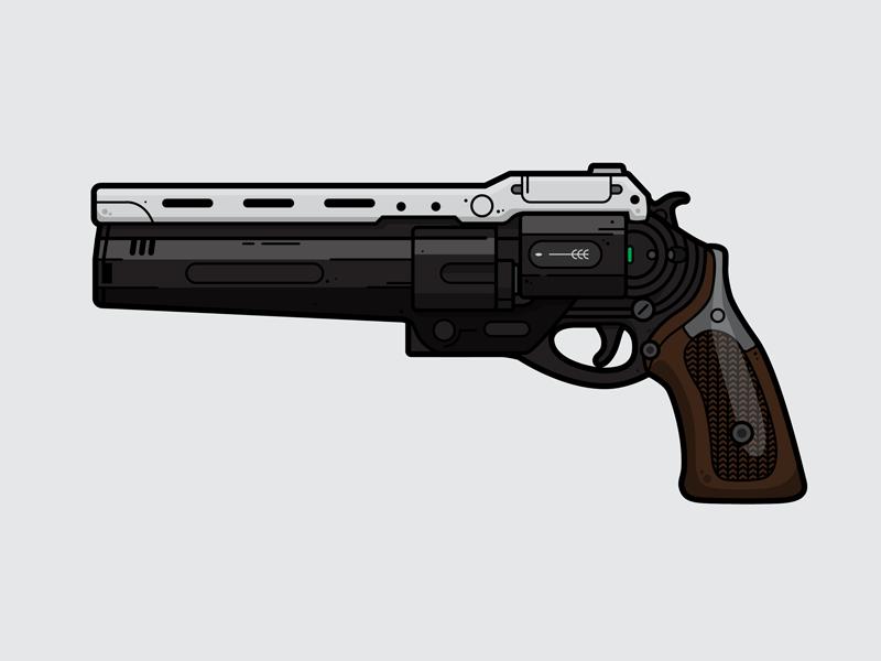 The First Curse pistol gun weapon flat vector vector illustration gaming destiny first curse