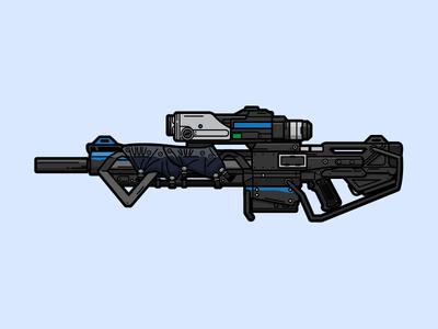 Devastator Sniper Rifle sniper rifle gaming vector illustration weapon devastator