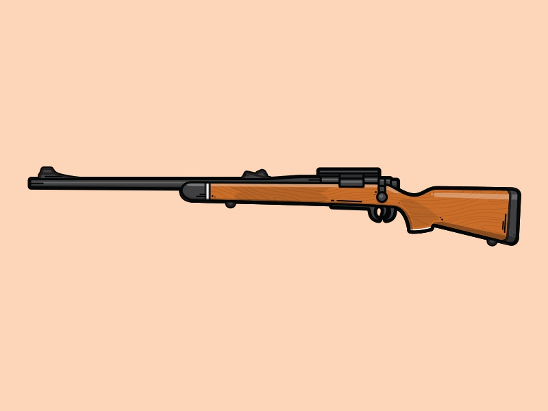 Model 700 Sniper Rifle lineart illustration weapon vector sniper rifle division model 700