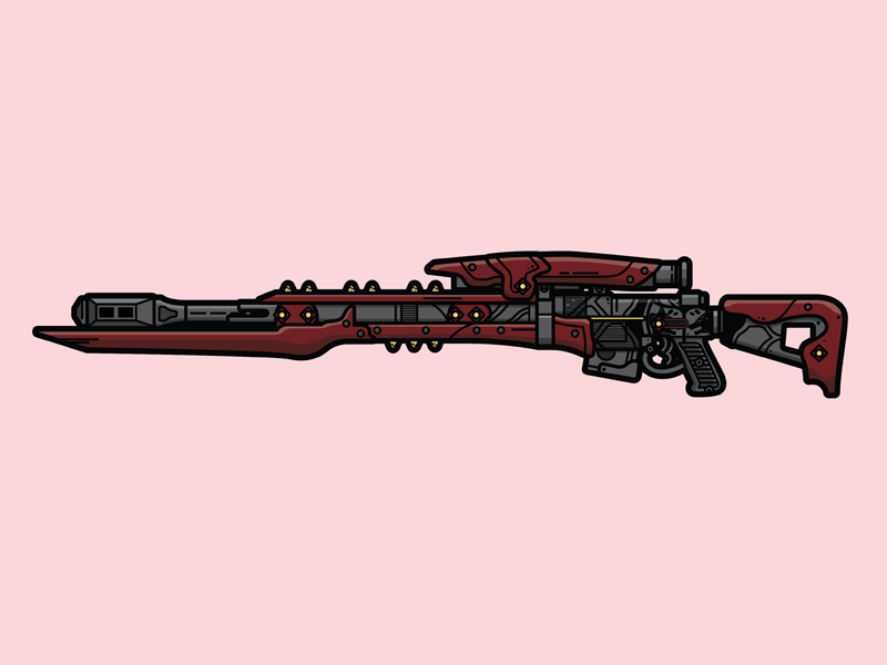 Bite of the Fox Sniper Rifle weapon illustration vector sniper rifle bite of the fox destiny