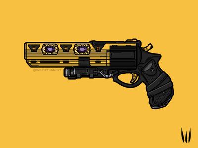 Austringer lineart vector illustration weapon gun hand cannon destiny 2 destiny austringer