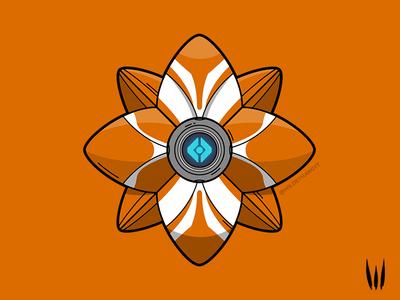 Alchemical Dawn Ghost Shell gaming vector art symmetrical line art vector illustration ghost shell destiny 2 destiny