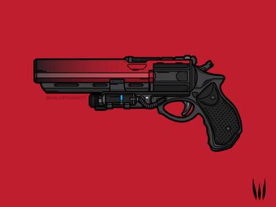 Eyasluna adobe illustrator weapon line art vector art illustration vector hand cannon eyasluna destiny