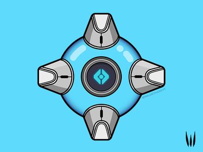 Knights Peace Ghost Shell gaming flat vector vector art ghost shell illustration trials destiny 2 destiny