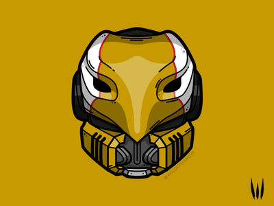 Celestial Nighthawk illustration vector art gaming helmet armour hunter celestial nighthawk nighthawk destiny 2 destiny