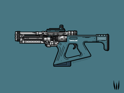 Erentil FR4 Fusion Rifle flat vector weapon illustration vector fusion rifle erentil destiny 2 destiny