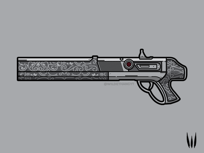 Chaperone flatvector lineart vector illustration weapon shotgun chaperone destiny 2 destiny
