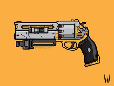 Fatebringer Adept flat vector vector weapon illustration adept hand cannon fatebringer destiny