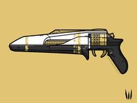 Midnight Coup hand cannon pistol gun vector weapon illustration destiny 2 destiny