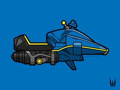Micro Mini vehicle flat vector vector illustration sparrow micro mini destiny 2 destiny