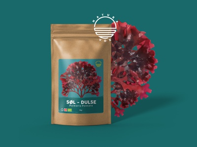 Organic Dulse Label Design label design label packaging organic food dulse organic