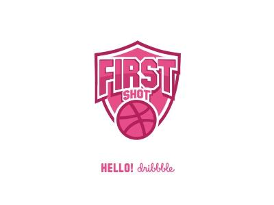 First Shot Dribbble shot first logo