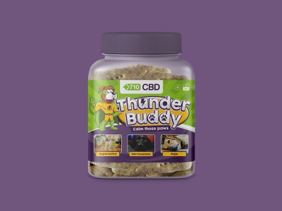 Natural Hemp Oil Dog Biscuits Label Design pet packaging label