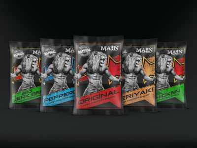 Packaging/Label Design for High Protein Snack Brand fitness label packaging