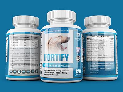 Label Design for Dog Supplement Product dog pet supplement label packaging