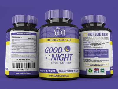 Vegan Supplement Label Design supplement label design supplements