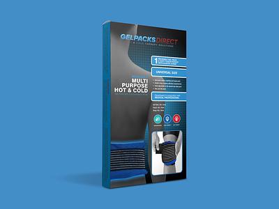 Gel Pack for Back Pain Packaging Design design label packaging