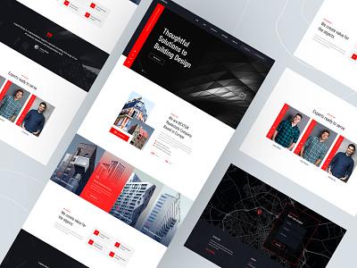Architecture Website Design Concept realestate architecture landingpage website ui architechture 2020