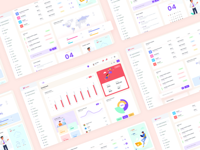 Analytic Dashboard Interface app desing web app app minimal clean uiux ui dashboard dashboard kit ui kit admin design