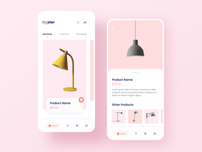 Concept Design - Online Shop Mobile App