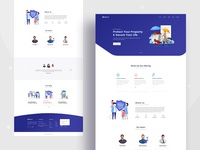 Insurance agency landing page