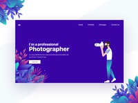 Header concept for Photographer