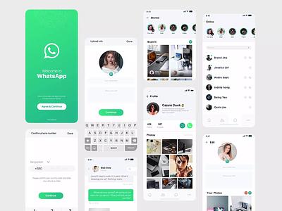 WhatsApp Redesign apple creative  design app design new concept 2020 concept creative design dribbble best shot clean uiux redesign whatsapp minimal app design mionimal app animation