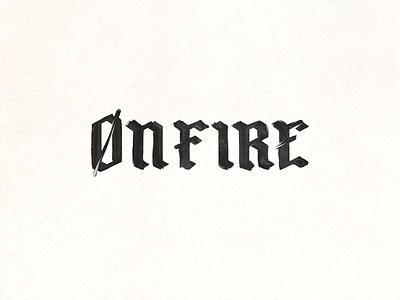 On-Fire branding doodle doodleart paint vector design type typography ty logo