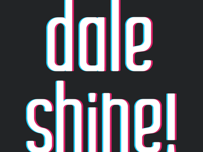 Dale Shine Doodle 02 shine doodle vector logo design branding typography type