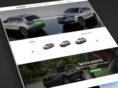 Skoda Cars Dealership Website Design