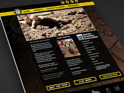 The Warrior Challenge Website Design