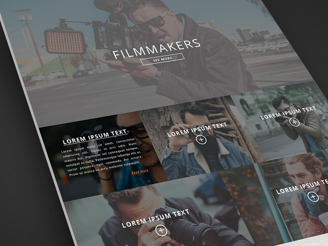 Film Makers Website Design photoshop photo film web design agency website design company website design website