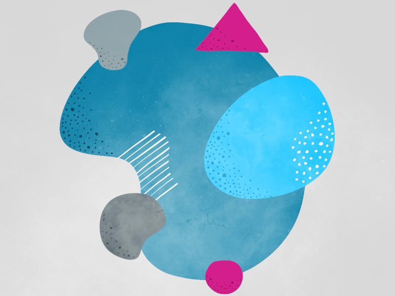 Shapes and dots procreate illustration
