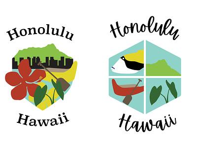 Honolulu Emblem Designs illustrator emblem hawaii illustration