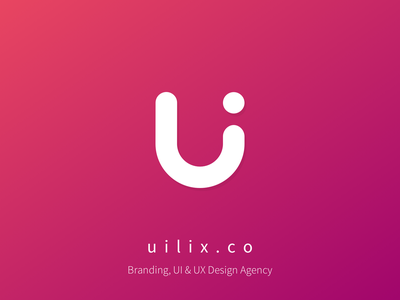 uilix.co logo flat minimal app web team typography branding vector icon illustration logo design agency ai ui ux startup clean